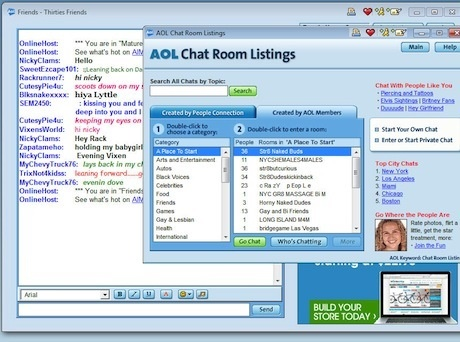 gay chat room free aol